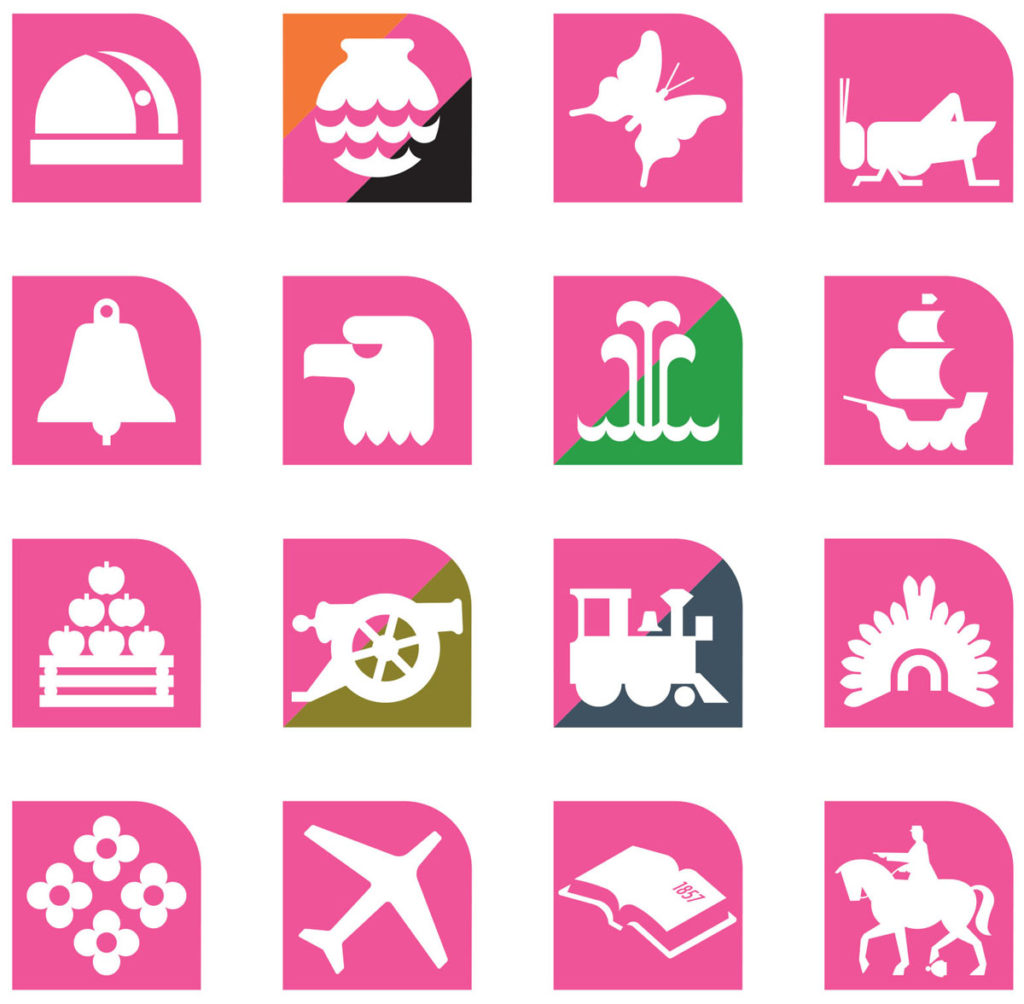 Mexico City metro icons - designed by Lance Wyman