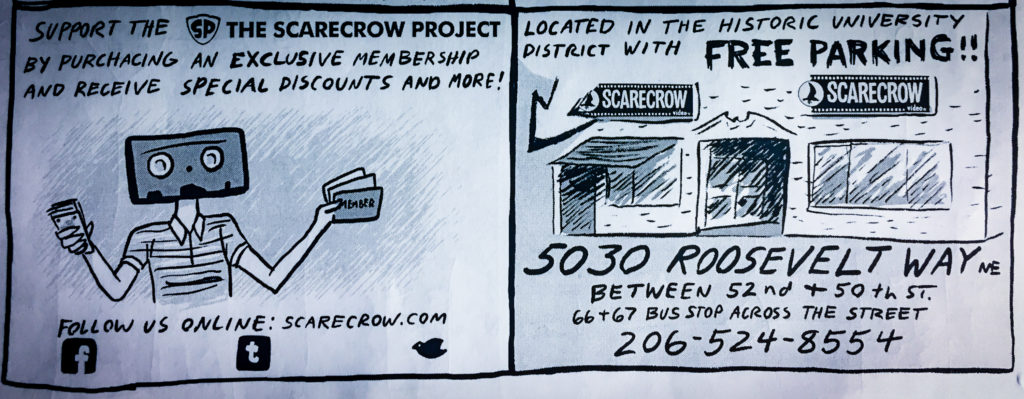 """""""Why Scarecrow Video?"""" flyer by Marc Palm"""