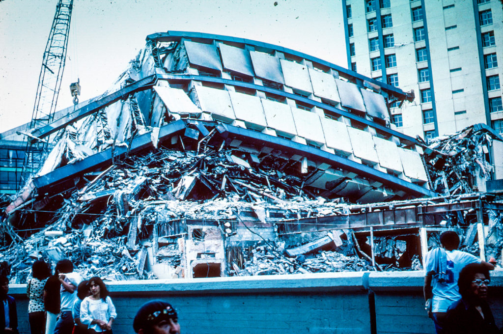 Pino Suarez Apartment Complex - Mexico City earthquake - September 1985 - public commons