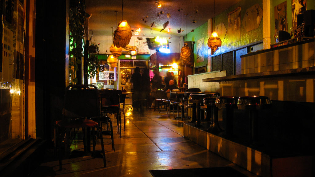 Inside the Crocodile Cafe circa 2007
