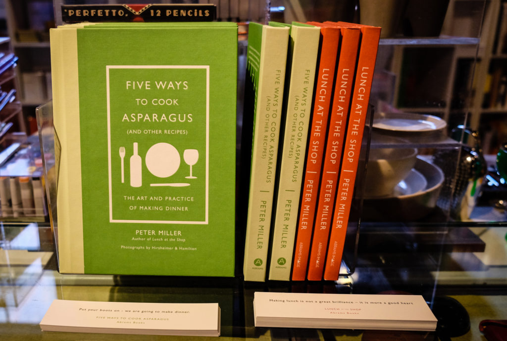 Books authored by Peter Miller: Five Ways to Cook Asparagus and Lunch at the Shop